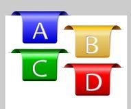 4 цветастых рассекателя Стоковая Фотография RF
