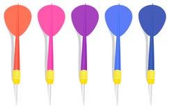 5 цветастых дротиков Стоковая Фотография RF