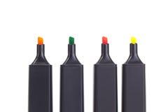 4 цветастых highlighters Стоковые Изображения