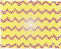 Цвета абстрактного желтого цвета геометрического дизайна красные бесплатная иллюстрация