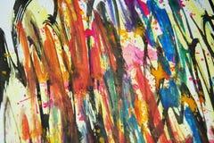 Цвета акварели, контрасты, предпосылка waxy краски творческая стоковые фото