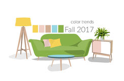 Цвета 2017 в дизайне интерьера Стоковое Фото