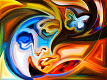 Цвета женского портрета иллюстрация штока