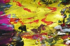 Цвета золота розовые яркие, контрасты, предпосылка waxy краски творческая стоковая фотография