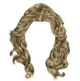 Цвета длинных вьющиеся волосы светлые белокурые иллюстрация вектора