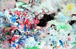 Цвета и оттенки красочного пинка темной черноты голубые розовые Абстрактная влажная предпосылка краски Пятна картины стоковое фото rf