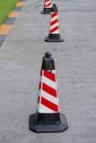 Цвета конуса движения красные и белые Стоковое Фото