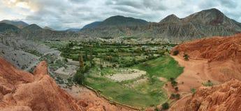 цвета Красно гора в Purmamarca Стоковое Фото