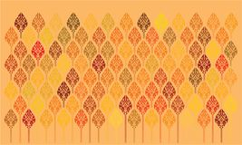 Цвета лотоса аранжировали аккуратную оранжевую предпосылку бесплатная иллюстрация