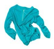 Цвета морской волны пуловер в движении в воздухе Стоковое Изображение