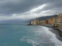 Цвета на море в Camogli стоковые фотографии rf