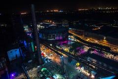 Цвета ночи фестиваля Остравы Стоковые Фото
