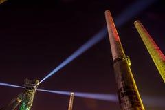 Цвета ночи фестиваля Остравы Стоковые Изображения RF