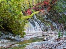 Цвета осени в ущелье реки Cuago Стоковые Изображения RF