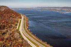 Цвета падения на Миссиссипи Стоковая Фотография RF