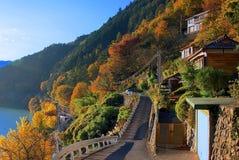 Цвета падения на Okutama, токио, Японии Стоковые Изображения