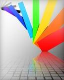 Цвета предпосылки радуги Стоковое Изображение RF