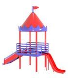 Цвета пластичной спортивной площадки красные фиолетовые Стоковое Изображение RF