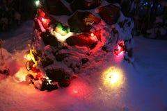 Цвета светов снега стоковые фотографии rf