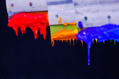 Цвета смеси вручную Стоковая Фотография RF