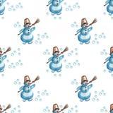 Цвета снеговика рождества иллюстрация вектора