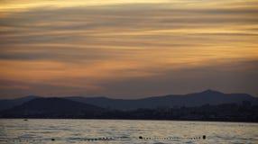 Цвета Beatutyfull захода солнца Стоковая Фотография RF