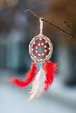 Цвета Dreamcatcher красные и белые Стоковые Изображения RF