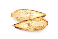 Цветение банана на белой предпосылке Стоковое фото RF