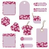 цветение нашивает бирки Стоковые Фотографии RF