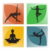 Цветение, лотос, цветок, йога, иллюстрация вектора, app, знамя иллюстрация штока
