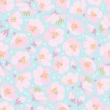 цветение предпосылки яблока безшовное Стоковое Фото