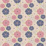 Цветет безшовная картина для предпосылки - vector иллюстрация Стоковое Изображение