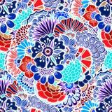 Цветет безшовная картина Стоковое Изображение