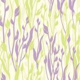 Цветет безшовная предпосылка. Флористическая безшовная текстура с цветками. Векторная графика. Стоковые Изображения RF