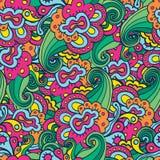 цветет безшовная текстура Бесконечная флористическая картина иллюстрация вектора