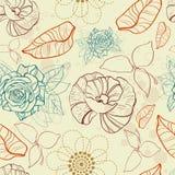 цветет безшовная текстура Стоковая Фотография RF