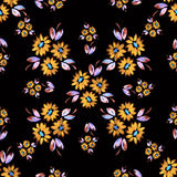 цветет безшовный желтый цвет Стоковое Фото