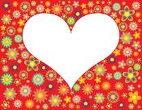 цветет белизна сердца Стоковое Изображение RF
