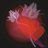 цветет Валентайн сердец s Стоковая Фотография