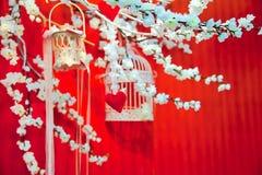 цветет венчание sakura установки сердец Стоковое Фото