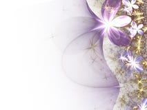 цветет глянцеватое фрактали нежное Стоковое Изображение