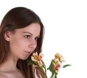 цветет детеныши женщины стоковые фото