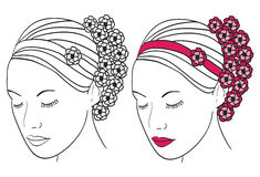 цветет женщина волос Стоковое фото RF