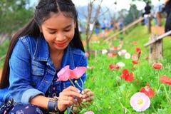 цветет женщина Стоковое Изображение