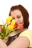 цветет женщина стоковое фото rf