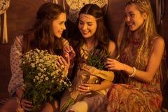 цветет женщины молодые Стоковые Фото