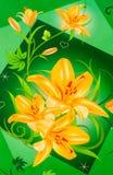 цветет золотистое иллюстрация штока