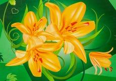 цветет золотистое иллюстрация вектора