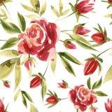 Цветет иллюстрация акварели картина безшовная Будьте матерью дня ` s, свадьбы, дня рождения, пасхи, дня ` s валентинки пастельно бесплатная иллюстрация