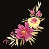 Цветет иллюстрация акварели Ручной состав Будьте матерью дня ` s, свадьбы, дня рождения, пасхи, дня ` s валентинки пастельно бесплатная иллюстрация